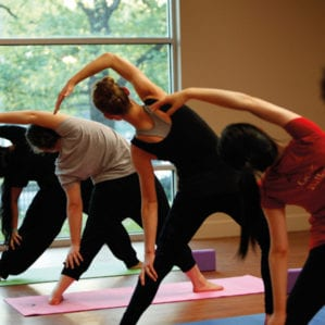 Students may attend weekly yoga classes, with additional classes in exam periods.