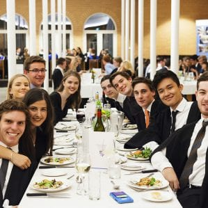 Commencement Dinner and Valedictory Dinner take place at the start and end of the academic year.