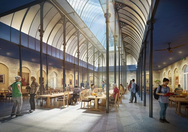 Artist's impression of the new dining hall