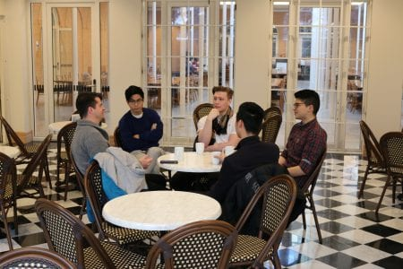Matthew Gordon and students
