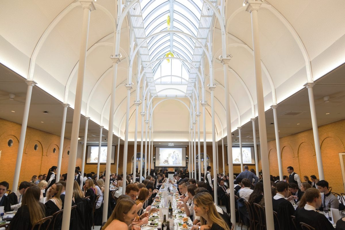 Valedictory Dinner in Syme Dining Hall