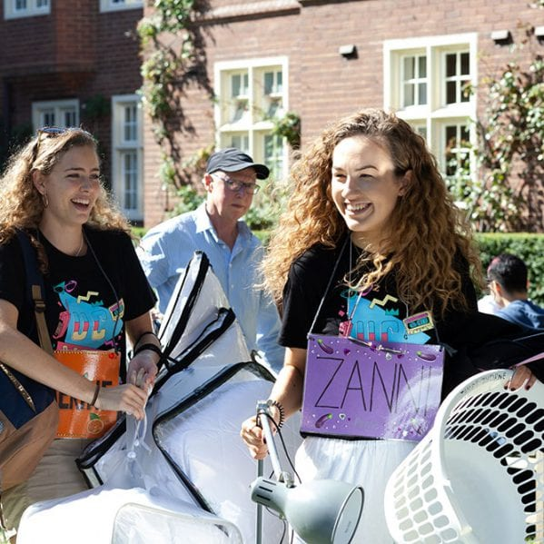 Students will help you move in when you first arrive